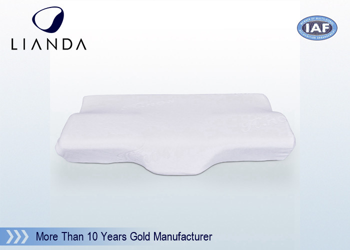 Health Contour Memory Foam Pillows Specially Curved Fitting Human Neck And Head